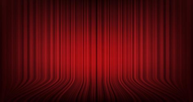 Fundo de cortina vermelha moderna