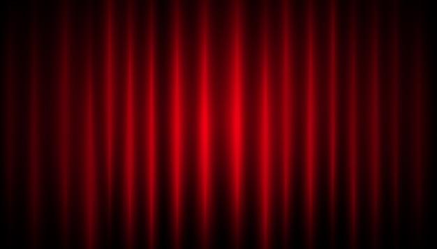 Fundo de cortina vermelha