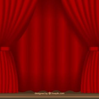 Fundo de cortinas de teatro vermelho