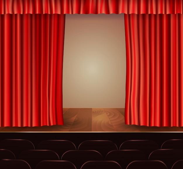 Fundo de cortinas de teatro