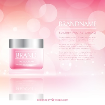 Fundo de cosméticos com estilo realista