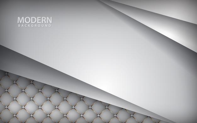 Fundo de couro branco de luxo com camada de sobreposição