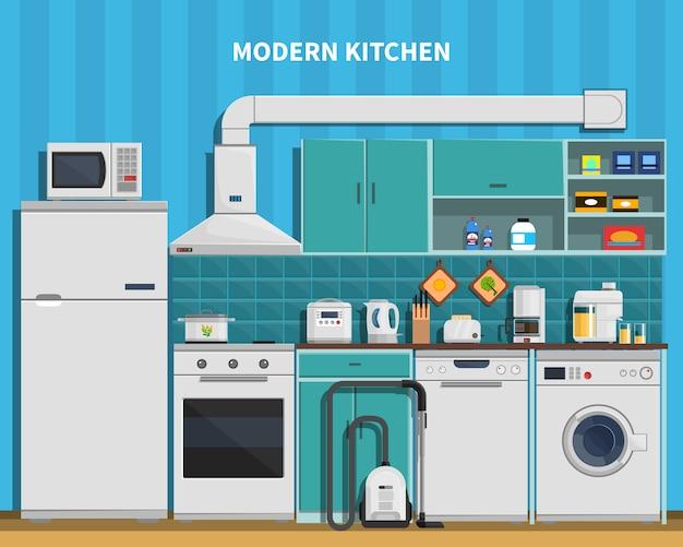 Fundo de cozinha moderna