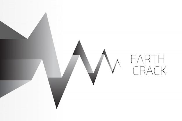 Fundo de crack de terra