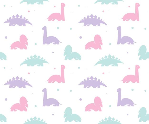 Fundo de crianças bebê com dinossauros bonitos. padrão sem emenda.