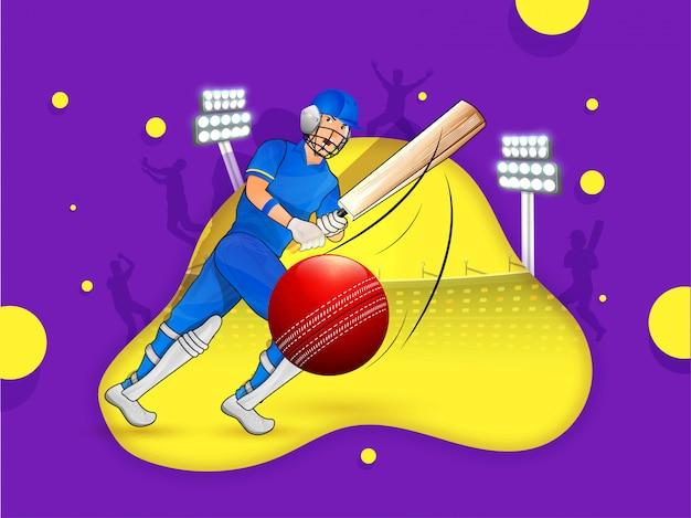 Fundo de críquete.