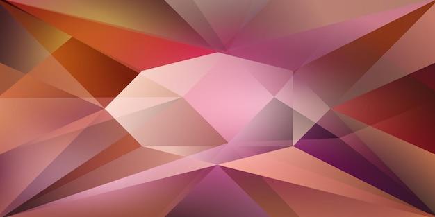 Fundo de cristal abstrato com luz refratária e realces em cores roxas