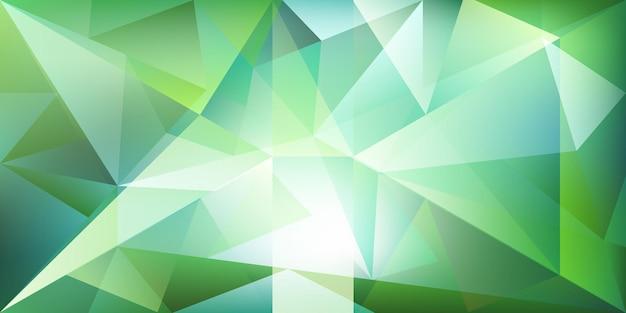 Fundo de cristal abstrato com luz refratária e realces em cores verdes