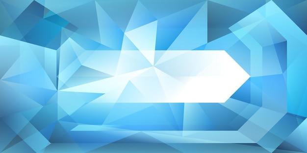 Fundo de cristal abstrato com luz refratária e realces em tons de azul claro