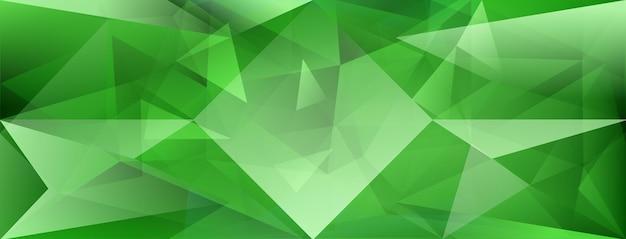 Fundo de cristal abstrato com refração da luz e destaques em cores verdes