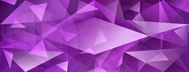 Fundo de cristal abstrato com refração da luz e realces em cores roxas