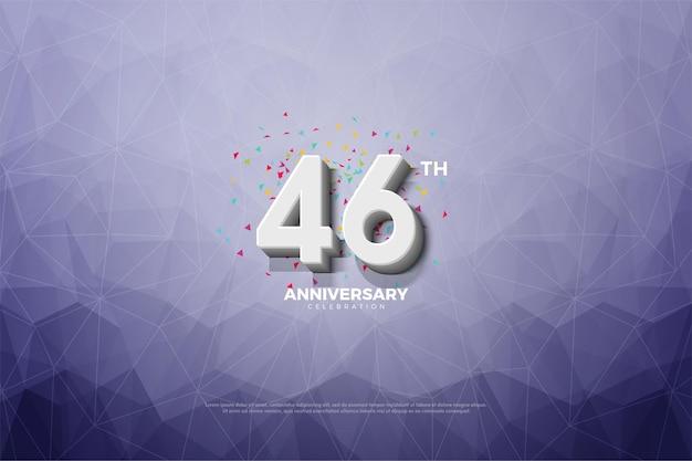 Fundo de cristal da celebração do 46º aniversário
