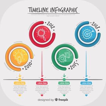 Fundo de cronograma de infográfico