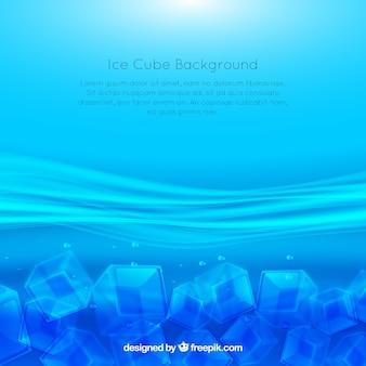 Fundo de cubo de gelo com espaço para texto