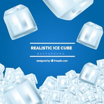 Fundo de cubo de gelo em estilo realista