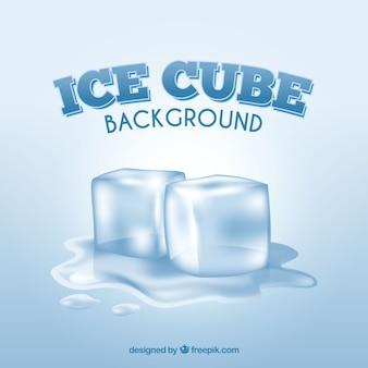 Fundo de cubos de gelo com estilo realista