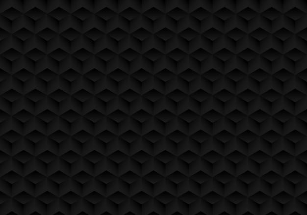 Fundo de cubos pretos de simetria geométrica realista 3d