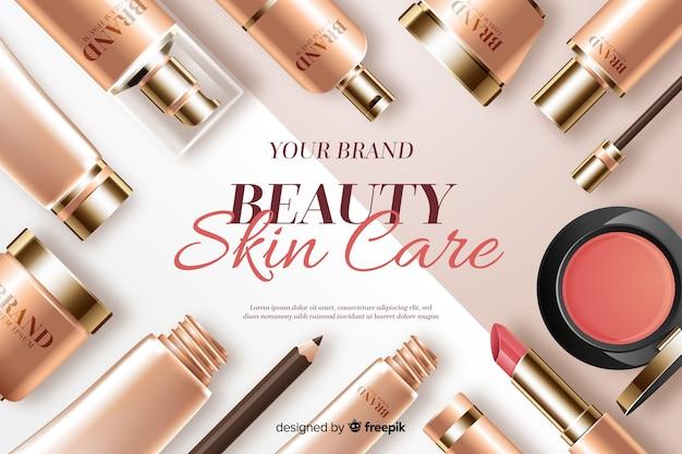 Fundo de cuidados de pele de beleza