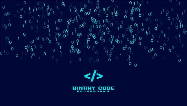 Fundo de dados digitais de algoritmo de código binário