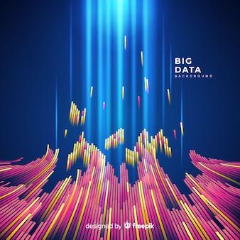 Fundo de dados grandes abstrato e brilhante