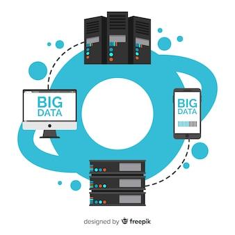 Fundo de dados grandes de comunicação