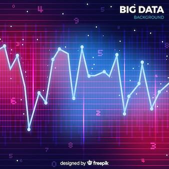 Fundo de dados grandes de estilo abstrato vermelho e azul