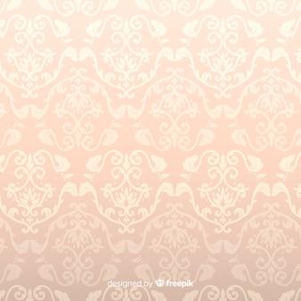 Fundo de damasco decorativo mão desenhada