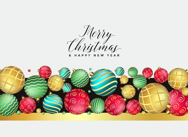 Fundo de decoração de bolas de natal premium bonito