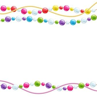 Fundo de decoração de contas de vidro coloridas.