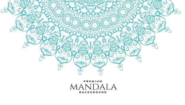 Fundo de decoração de mandala em estilo indiano