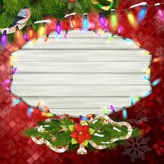 Fundo de decoração de natal.