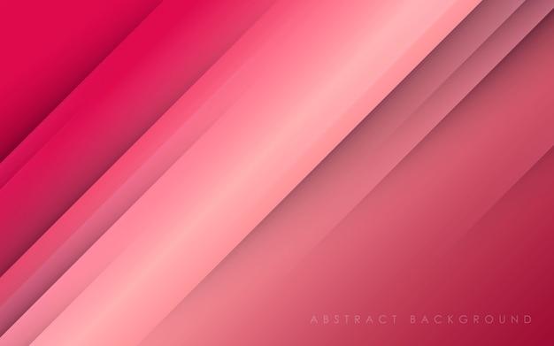 Fundo de decoração diagonal rosa papercut