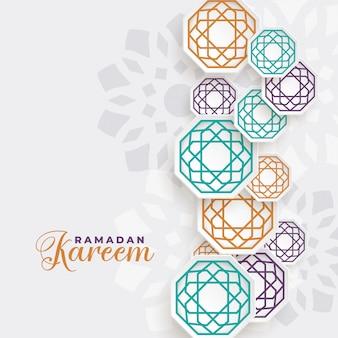 Fundo de decoração islâmica lindo ramadan kareem