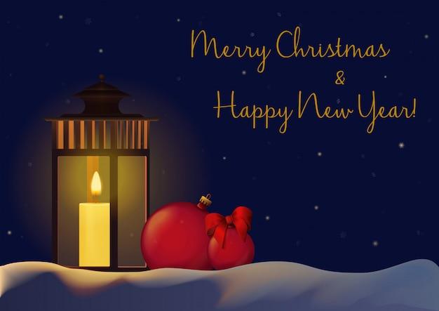 Fundo de decorações de ano novo de natal