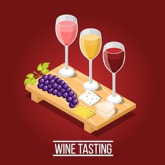 Fundo de degustação de vinhos