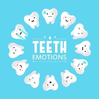 Fundo de dentes de clínica dentária.