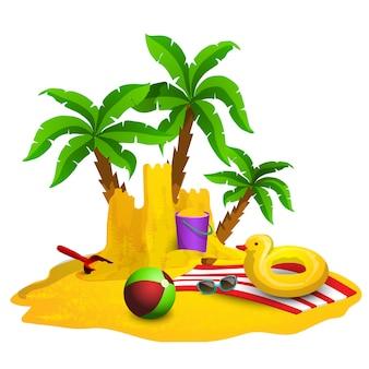 Fundo de descanso de praia