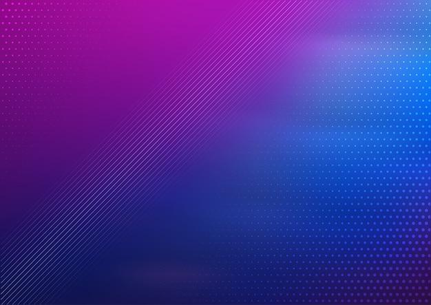 Fundo de desenho abstrato com gradiente de azul e roxo