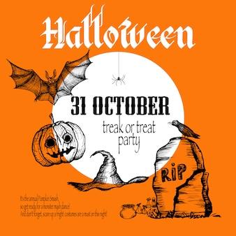 Fundo de desenho de halloween