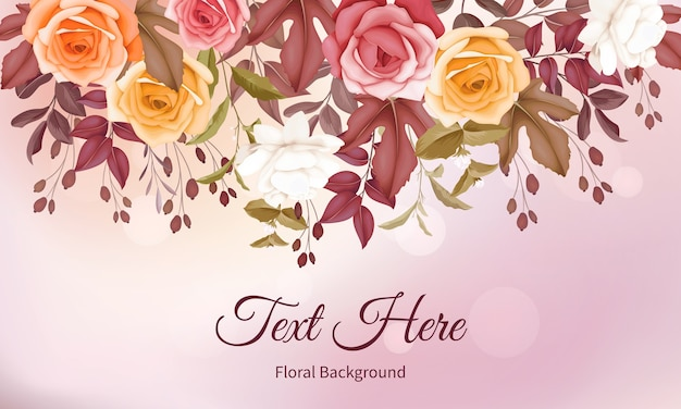 Fundo de desenho de mão floral lindo