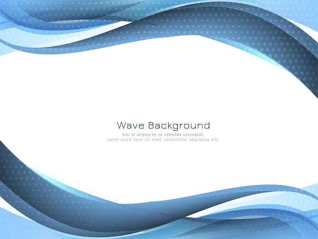 Fundo de desenho de onda azul elegante