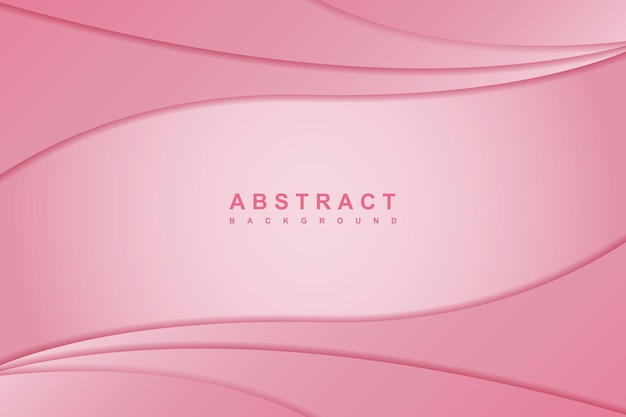 Fundo de desenho de onda rosa elegante abstrato
