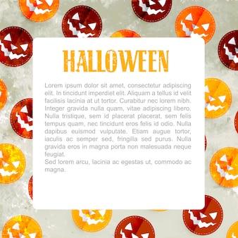Fundo de desenho de padrão de halloween