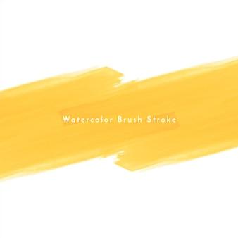 Fundo de desenho de pincelada aquarela amarela