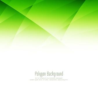 Fundo de desenho de polígono verde abstrato