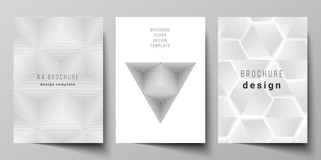 Fundo de desenho de triângulo geométrico abstrato usando diferentes padrões de estilo triangular