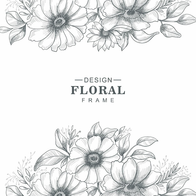 Fundo de desenho floral decorativo bonito