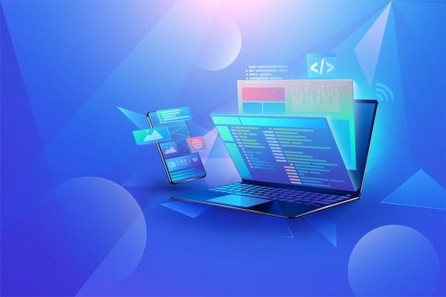 Fundo de desenvolvimento de aplicativos para dispositivos móveis