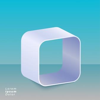 Fundo de design 3d caixa curvada