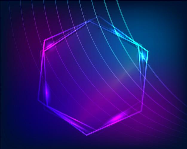 Fundo de design abstrato brilhante quadro geométrico